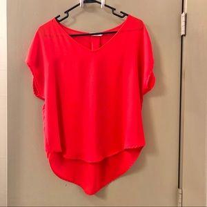 LUSH Orange Satin Blouse / gently worn / CS